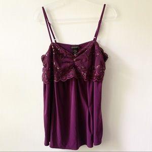 Lane Bryant Purple Sequined Cami Size 14 / 16